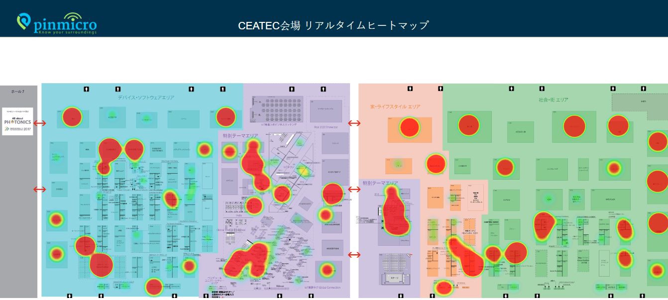 Real-time heatmaps of Pinmicro's Eventplus